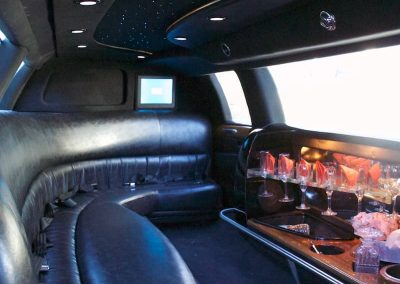 White Limo Interior